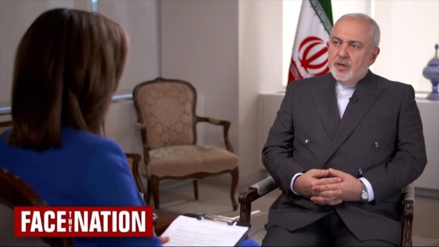 El canciller iraní, Mohamad Yavad Zarif, concede una entrevista a la cadena estadounidense CBS, 21 de septiembre de 2019.