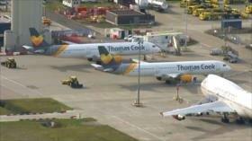 Compañía de viajes británica Thomas Cook cancela todos sus vuelos