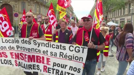 Nueva jornada de protestas en Francia contra reforma a jubilación