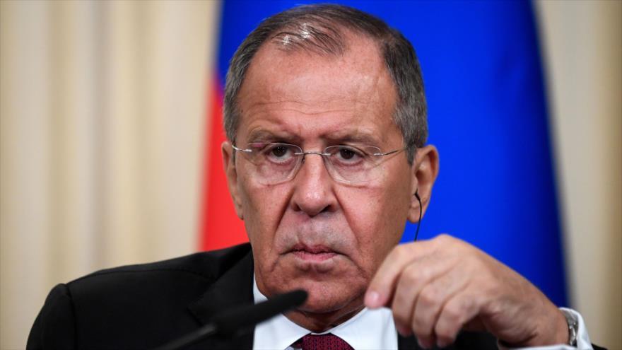 El canciller de Rusia, Serguéi Lavrov, en una reunión en Moscú, la capital rusa, 2 de septiembre de 2019. (Foto: AFP)