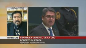 Quesada: Juan Orlando Hernández preside un narcogobierno
