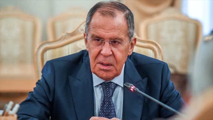 El canciller de Rusia, Serguéi Lavrov, en una reunión en Moscú, la capital, 28 de agosto de 2019. (Foto: AFP)
