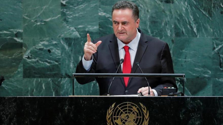 El ministro israelí de asuntos exteriores, Yisrael Katz, habla en la 74.ª sesión de la AGNU, 26 de septiembre de 2019. (Foto: Reuters)