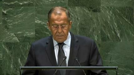 Lavrov rechaza en la AGNU bloqueo de EEUU contra Venezuela