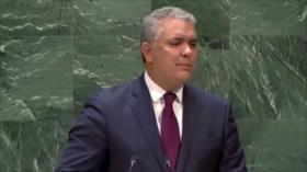 Controversial foto muestra el presidente de Colombia en la ONU