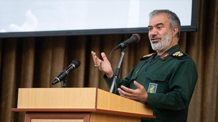 El comandante en jefe adjunto del Cuerpo de Guardianes de la Revolución Islámica (CGRI) de Irán, el general de brigada Ali Fadavi.