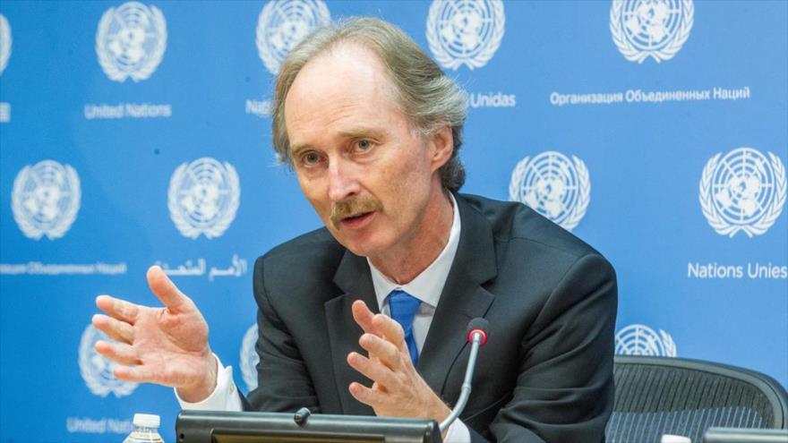 El enviado especial de la Organización de las Naciones Unidas (ONU) para Siria, Geir Pedersen.