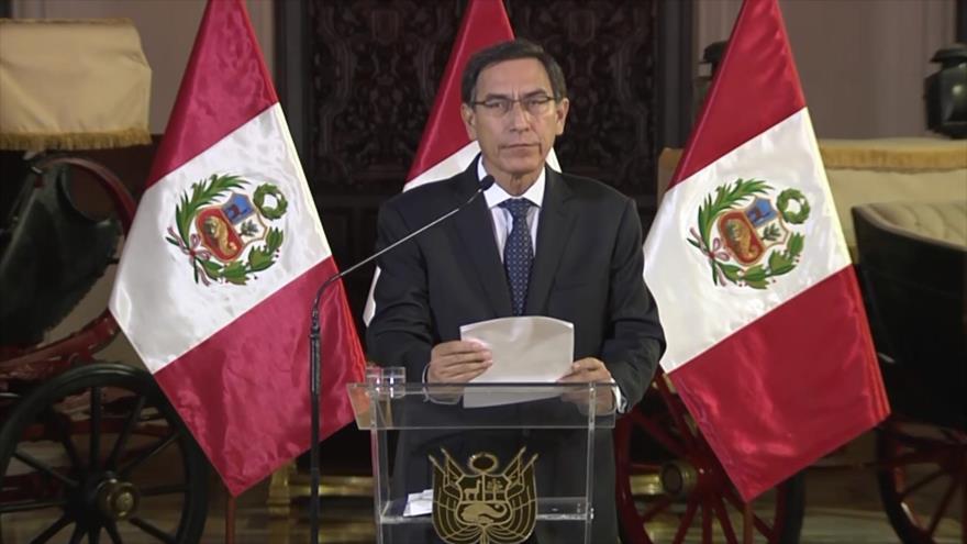 Martín Vizcarra disuelve el Congreso de la República de Perú | HISPANTV