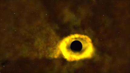 Telescopio de NASA capta estrella devorada por un agujero negro