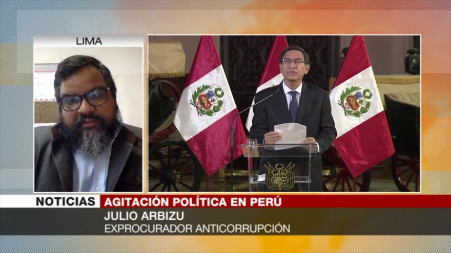 Arbizu: Lo ocurrido en Perú, producto de una larga crisis interna