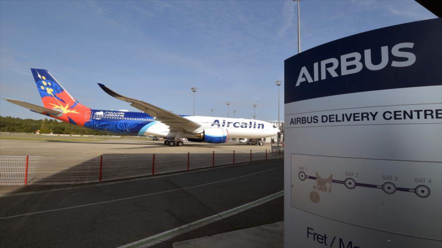 El centro de entrega de Airbus en Colomiers, suroeste de Francia, 27 de septiembre de 2019. (Foto: AFP)