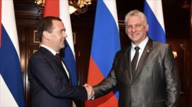 Cuba recibe al primer ministro ruso en medio de sanciones de EEUU