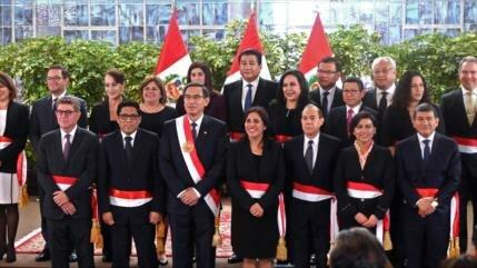 Presidente peruano toma juramento a su nuevo Gabinete ministerial