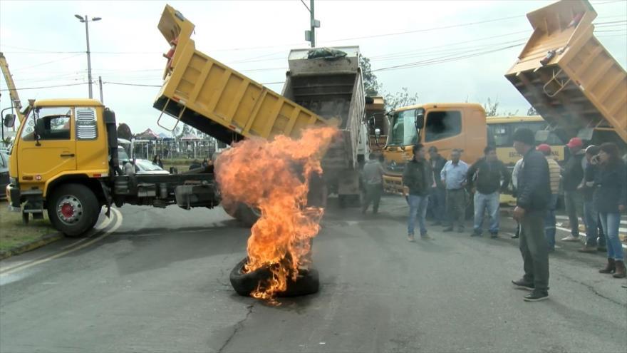 """Moreno decreta """"estado de excepción"""" por las protestas en Ecuador"""