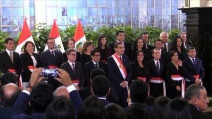 Presidente de Perú juramenta nuevo Gabinete tras disolver Congreso