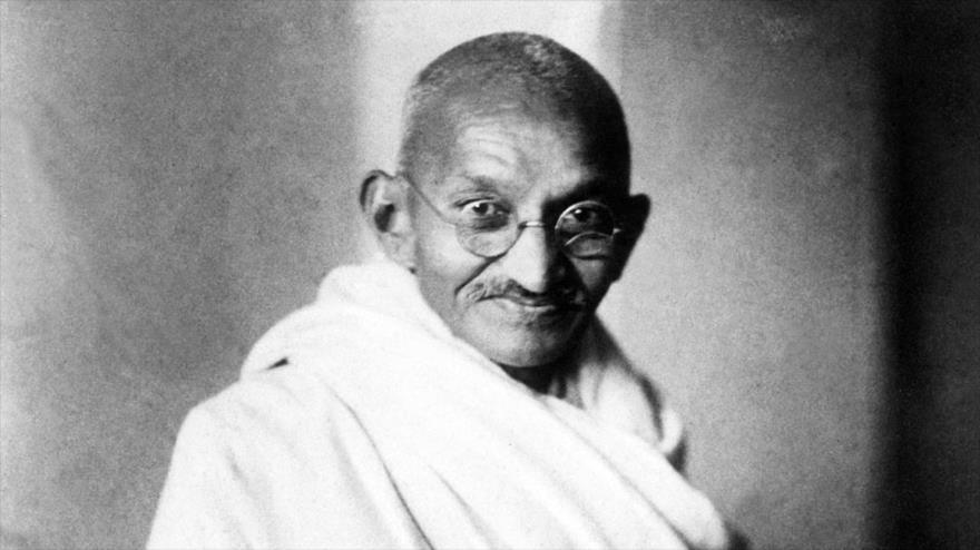 Mahatma Gandhi, el padre de La India.