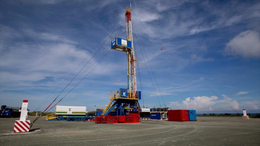 Pozo petrolero en el nuevo complejo de producción de Boca de Jaruco en Mayabeque, Cuba, 4 de octubre de 2019. (Foto: AFP)