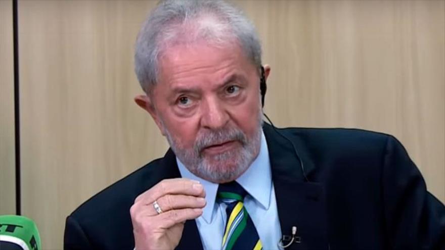 El expresidente de Brasil, Luiz Inácio Lula da Silva en una entrevista concedida a la cadena rusa RT, 4 de octubre de 2019.
