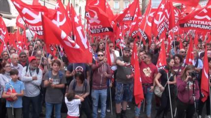 Sindicatos italianos rechazan políticas de austeridad de Gobierno