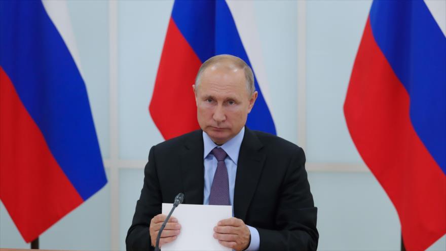 El presidente de Rusia, Vladimir Putin, en una reunión celebrada en Moscú, la capital rusa, 9 de septiembre del 2019. (Foto: AFP)