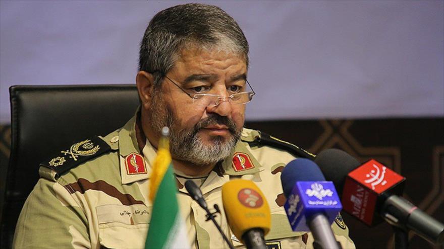 El jefe de la Organización de Defensa Pasiva de Irán, el general de brigada Qolamreza Yalali.