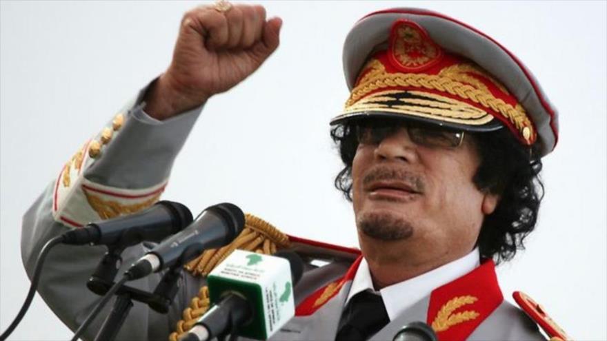 El derrocado mandatario libio Muamar Gadafi.