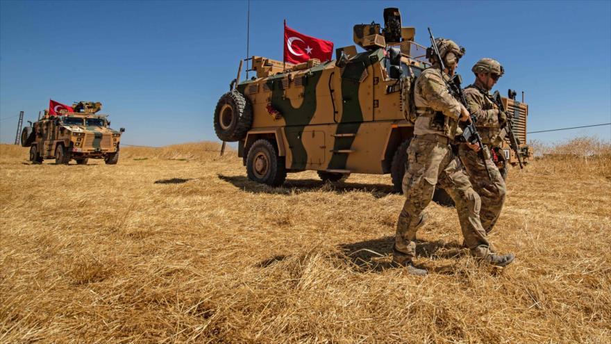 Fuerzas turcas desplegadas en el territorio sirio, 8 de septiembre de 2019. (Foto: AFP)