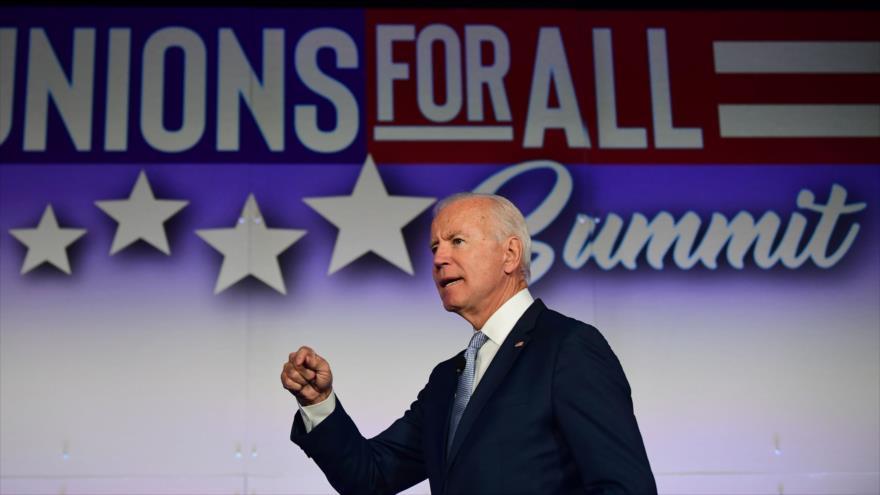 El exvicepresidente de EE.UU. Joe Biden ofrece un discurso en California, 4 de octubre de 2019. (Foto: AFP)