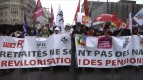 Pensionistas franceses contra la política del Gobierno de Macron