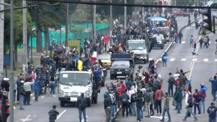 Se registra grave crisis en Ecuador a causa de reformas económicas
