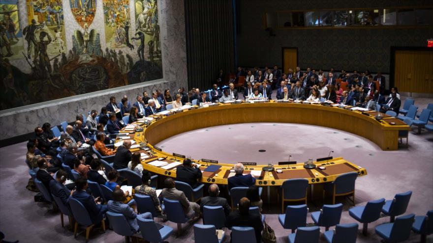 Una sesión del Consejo de Seguridad de Naciones Unidas (CSNU) en la sede del organismo en Nueva York, 20 de agosto de 2019. (Foto: AFP)
