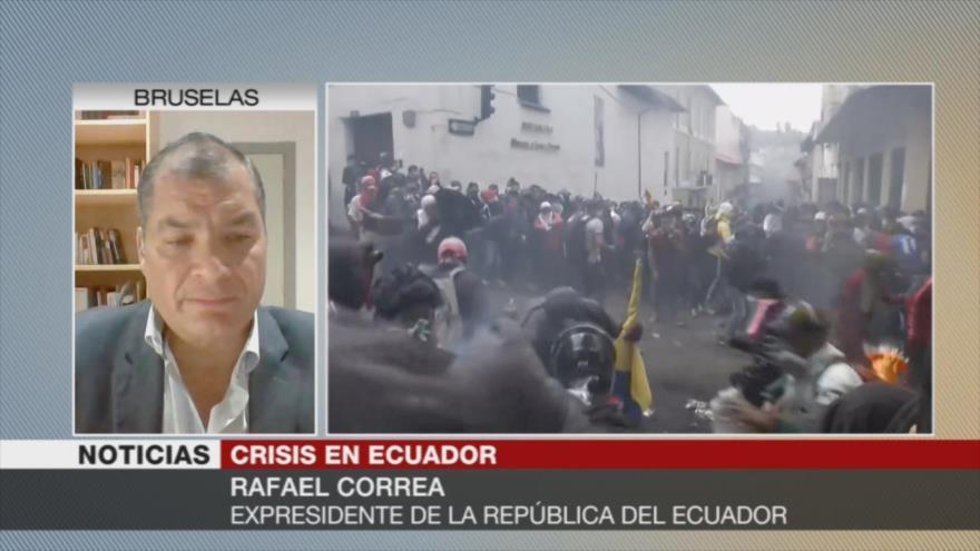 Correa acusa a Moreno de aferrarse al poder 'por sus intereses'