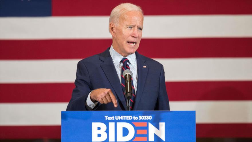 El candidato presidencial y exvicepresidente de EE.UU., Joe Biden, ofrece un discurso en New Hampshire (noreste), 9 de octubre de 2019. (Foto: AFP)