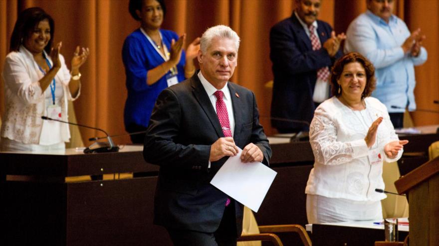 El presidente de Cuba, Miguel Díaz-Canel, en una sesión de la Asamblea Nacional del Poder Popular del país, 10 de octubre de 2019. (Foto: Reuters)