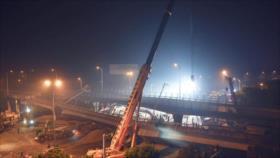 Vídeo: Derrumbe de puente de una autopista deja 3 muertos en China