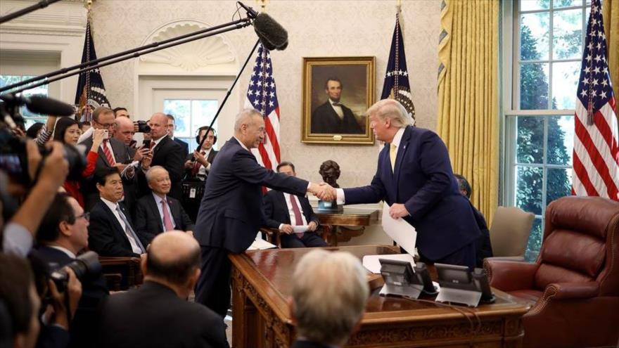 """Trump anuncia un acuerdo comercial """"sustancial"""" entre EEUU y China"""