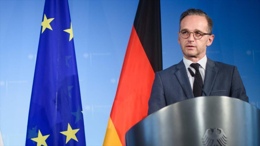 Heiko Maas, ministro de Exteriores de Alemania, habla en una rueda de prensa en Berlín, 16 de septiembre de 2019. (Foto: AFP)