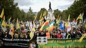 Miles de manifestantes en Europa denuncian ofensiva turca en Siria