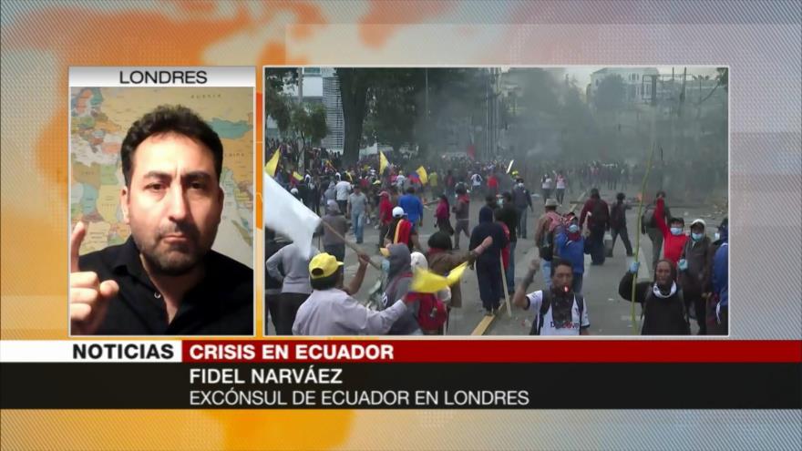 Narváez: Toque de queda constituye un atropello a DDHH en Ecuador