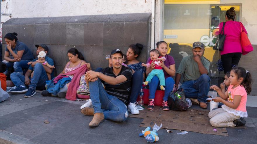 Migrantes cerca de la frontera México-EE.UU., en Ciudad Juárez, México, 12 de septiembre de 2019. (Foto: AFP)