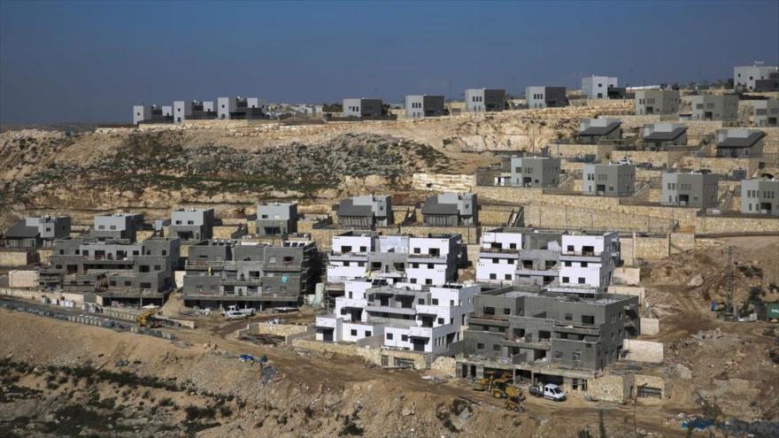 Vista general de un nuevo proyecto de viviendas israelíes en el asentamiento de Naale, en Cisjordania, 1 de enero de 2019. (Foto: AP)