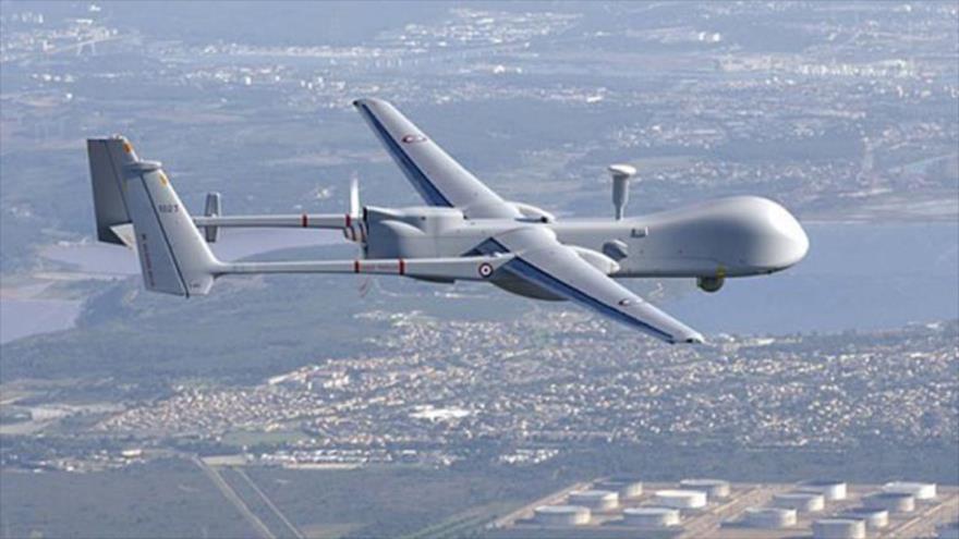 Un dron israelí de reconocimiento modelo IAI Heron (Machatz-1).