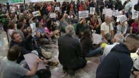 Barceloneses exigen liberación de líderes independentistas