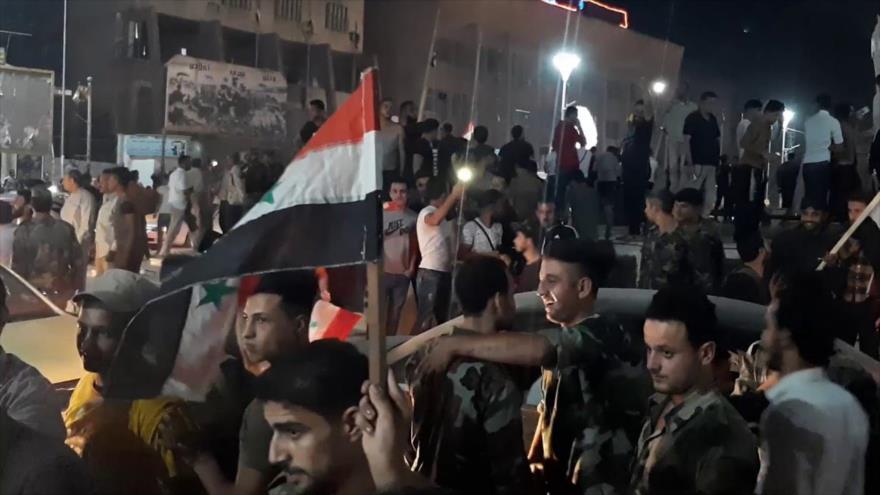 Vídeo: Sirios celebran despliegue del Ejército ante agresión turca