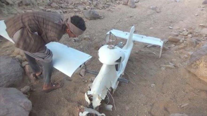 Un dron saudí derribado por los combatientes de Ansarolá.