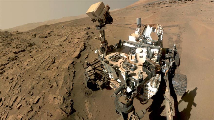 Imagen de la misión 'Curiosity' de la Administración Nacional de la Aeronáutica y del Espacio de EE.UU. en la superficie de Marte. (Foto: NASA)