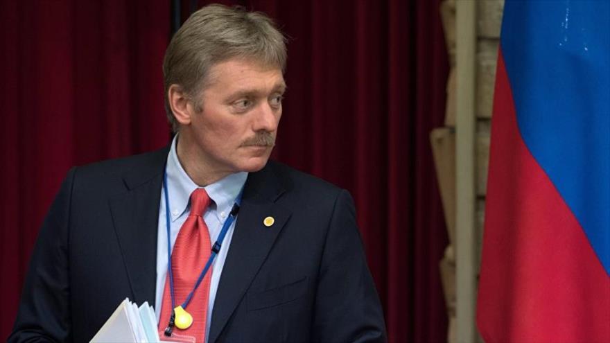 El portavoz del Kremlin, Dmitri Peskov, asiste a un acto oficial en Moscú, la capital rusa.