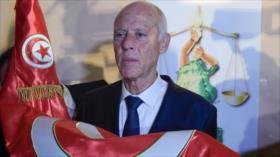 Tunecinos celebran en las calles la victoria del propalestino Said