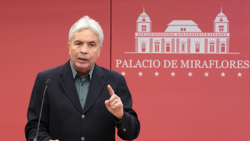 El ministro del Poder Popular para la Agricultura Productiva de Venezuela, Wilmar Castro Soteldo, en Palacio de Miraflores, Caracas, capital venezolana.