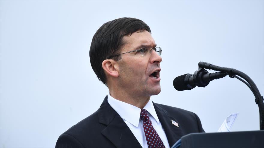 El titular del Pentágono, Mark Esper, en el estado estadounidense de Virginia, 30 de septiembre de 2019. (Foto: AFP)
